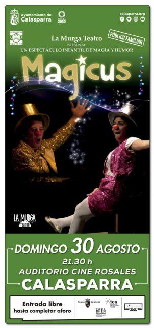 Llega a Calasparra MAGICUS el espectáculo de magia y humor - 1, Foto 1