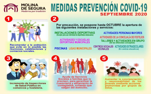 El Comité Técnico-Científico de Seguimiento del COVID-19 en Molina de Segura aprueba nuevas medidas - 1, Foto 1
