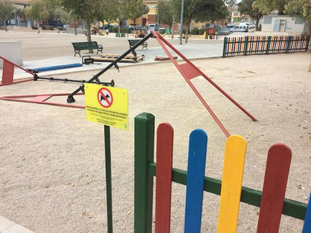 They start work to build a new park with playground at the fairgrounds