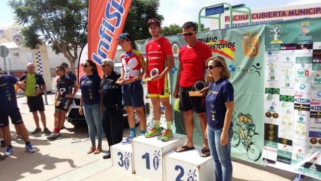 Victor Perez of Santa Eulalia de Totana CC returns to the top of the U23 podium in Huercal-Overa