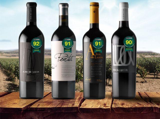 La guía Peñín 2018 califica de Excelentes cuatro vinos de Bodegas Luzón, Foto 1