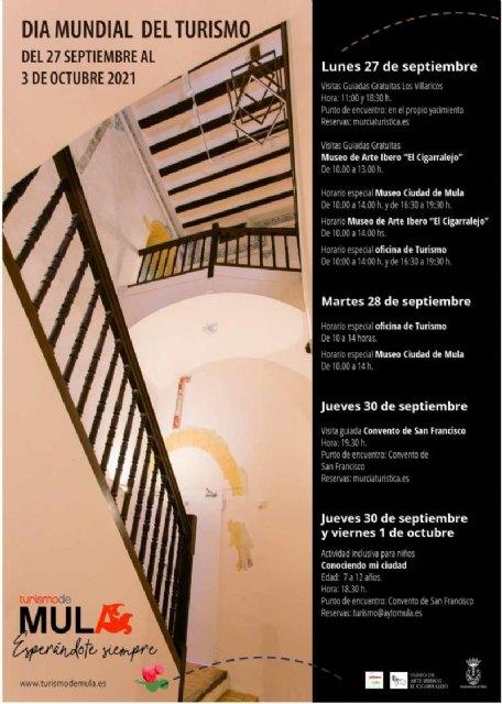 Mula conmemora el Día Mundial del Turismo con visitas guiadas y actividades en los museos - 1, Foto 1