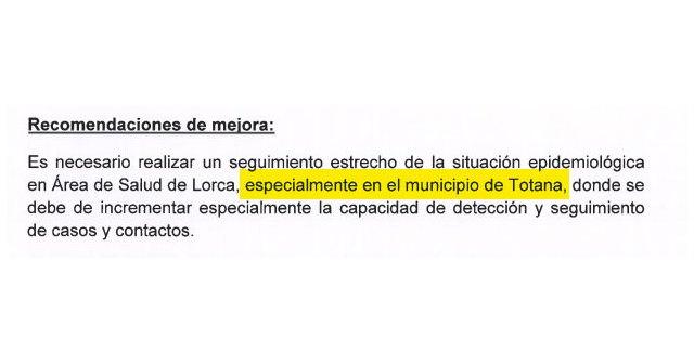 Un informe del Ministerio de Sanidad alertaba en Mayo de la situaci�n en el �rea III de Salud y en especial en Totana, Foto 3