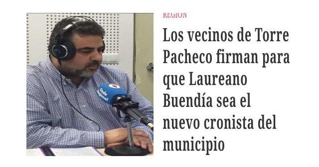 No se debatirá la moción para nombrar a Laureano Buendía como Cronista Oficial de la Villa - 1, Foto 1