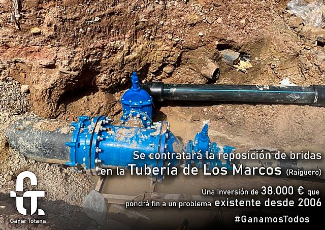 The replacement works begin on the Marcos pipeline, in Raiguero Bajo