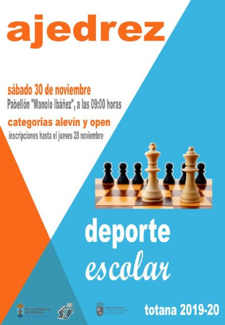 Next Saturday, November 30 will take place the Local Phase of School Sports Chess