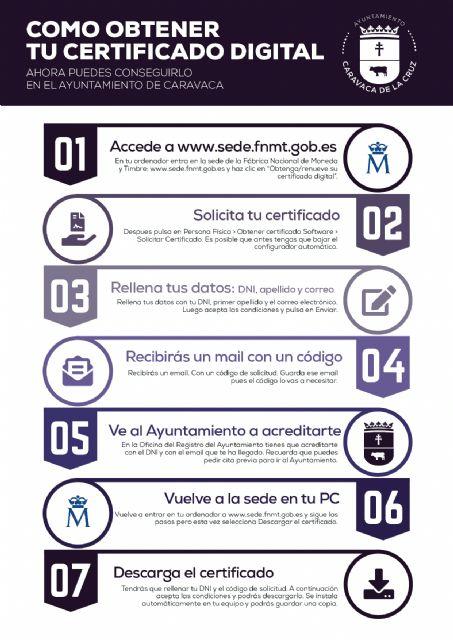 El Ayuntamiento de Caravaca pone en marcha un nuevo servicio para facilitar a los vecinos la obtención del Certificado Digital - 2, Foto 2