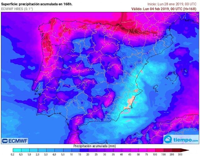 Tiempo desapacible en España durante toda la semana. En la Región de Murcia, el meteoro protagonista será el viento