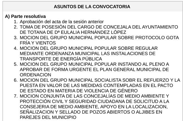 The ordinary plenary of January includes the act of taking possession of the position of councilor of the Totana City Council of the mayor Eulalia Hernández López, of the Municipal People's Group, Foto 3