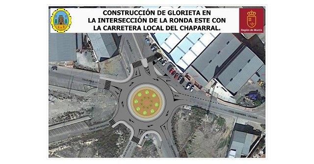 Abiertos los periodos de licitación de las obras para la construcción de una Glorieta en la intersección de la Ronda Este con la Ctra. del Chaparral - 1, Foto 1