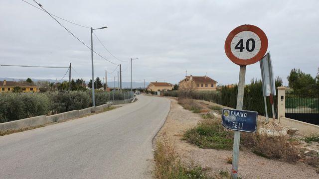 El Ayuntamiento de Lorca aprueba el expediente de contratación de las obras de instalación del sistema de alumbrado público en el Camino de Felí - 2, Foto 2