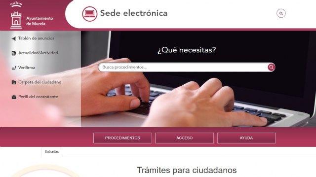 Los murcianos han realizado más de 7,5 millones de consultas en la Sede Electrónica del Ayuntamiento - 1, Foto 1