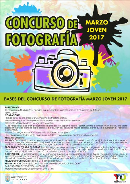 "The deadline for the presentation of the ""Young March"" Photography Contest ends this Friday"