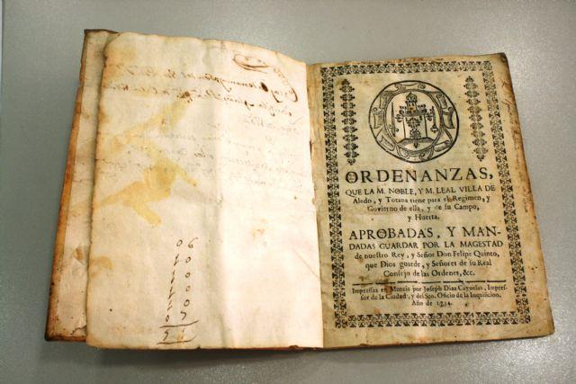Los herederos de José María Munuera y Abadía donan al Archivo Municipal unas Ordenanzas del Buen Gobierno del Concejo de 1724