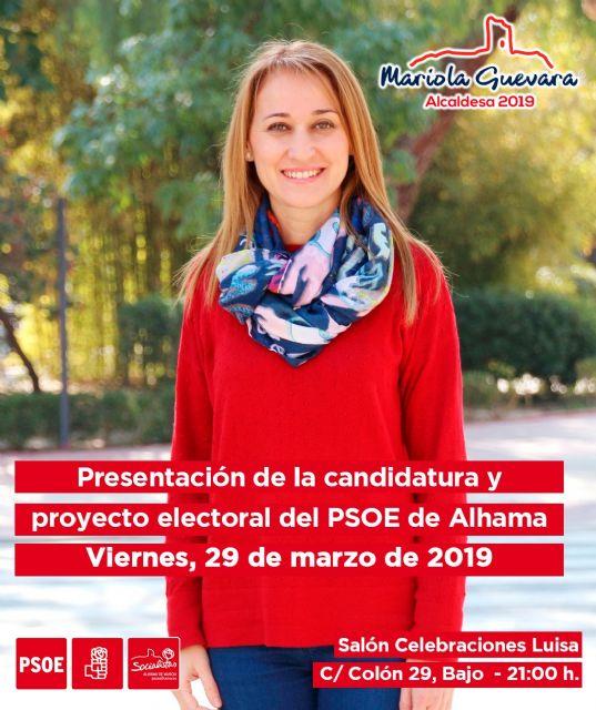 El PSOE de Alhama presenta su lista electoral completa mañana viernes 29 de marzo, Foto 1