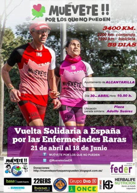 El sábado 30 de abril llega a Alcantarilla la Vuelta Solidaria a España por las Enfermedades Raras o Minoritarias - 1, Foto 1