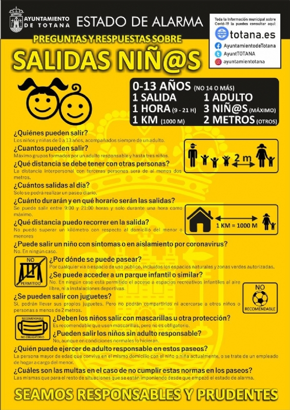 The Local Police prepare a document with the basic advice that guarantees the safety and protection of children during their outings to the street