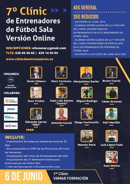 El 6 de Junio se celebra la 7ª Edición del Clínic de Entrenadores de Fútbol Sala. Versión Online - 1, Foto 1