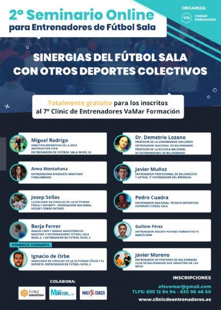 El 6 de Junio se celebra la 7ª Edición del Clínic de Entrenadores de Fútbol Sala. Versión Online - 2, Foto 2