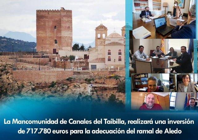 La Mancomunidad de los Canales del Taibilla invertirá 717.780 euros en el ramal de Aledo - 1, Foto 1