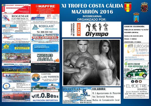 70 participantes estarán en Mazarrón para competir en el XI Trofeo Costa Cálida de Culturismo - 1, Foto 1