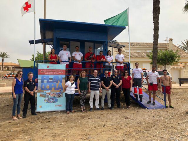 La Comunidad activa el dispositivo del Plan COPLA en 14 puestos de las playas de Mazarrón, Foto 1