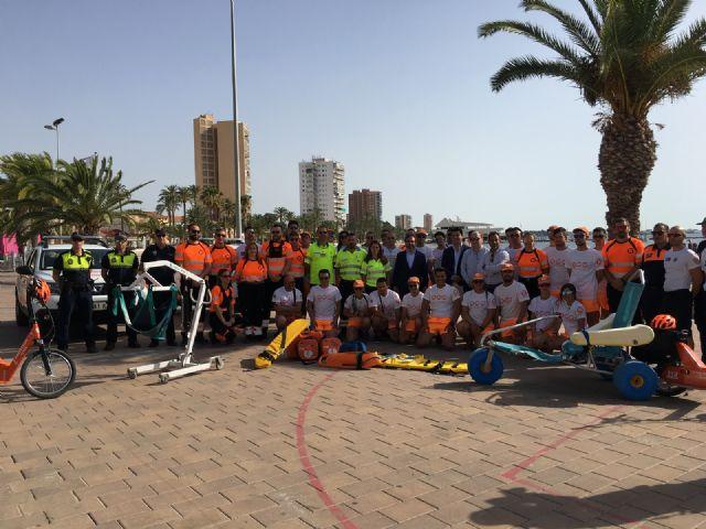 Las playas de Santiago de la Ribera y La Manga suman la mitad de las asistencias de baño asistido de toda la Región de Murcia - 3, Foto 3