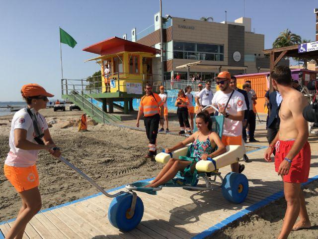 Las playas de Santiago de la Ribera y La Manga suman la mitad de las asistencias de baño asistido de toda la Región de Murcia - 5, Foto 5