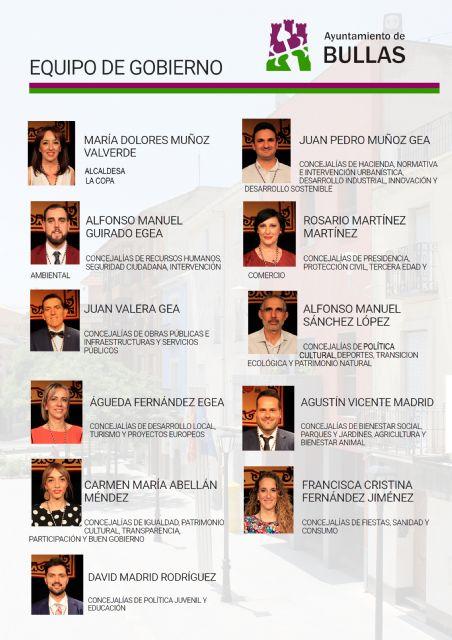 Composición del nuevo Equipo de Gobierno en el Ayuntamiento de Bullas - 1, Foto 1