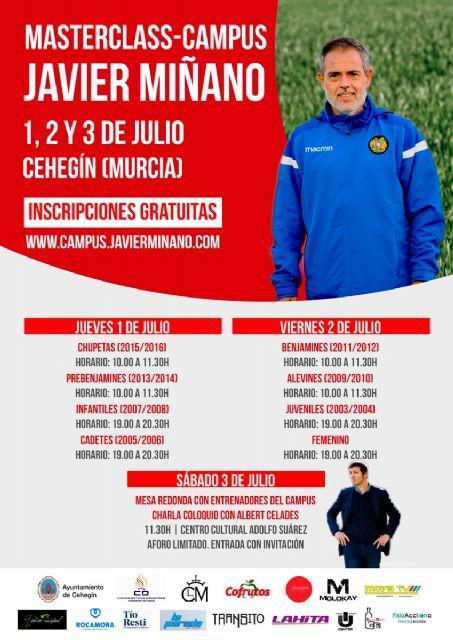 El Campus Javier Miñano realizará una MasterClass gratuita los días 1 y 2 de julio - 1, Foto 1