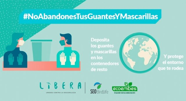 The City Council adheres to the campaign #NoAbandonesTusGuantesYMascarillas
