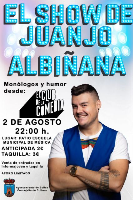 El humor de Juanjo Albiñana llega a Bullas - 1, Foto 1