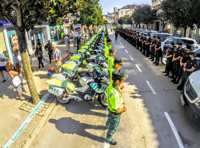 128 guardias civiles de la UMSV y un centenar de la Zona de Murcia velarán por la seguridad de La Vuelta a su paso por la Región, Foto 5