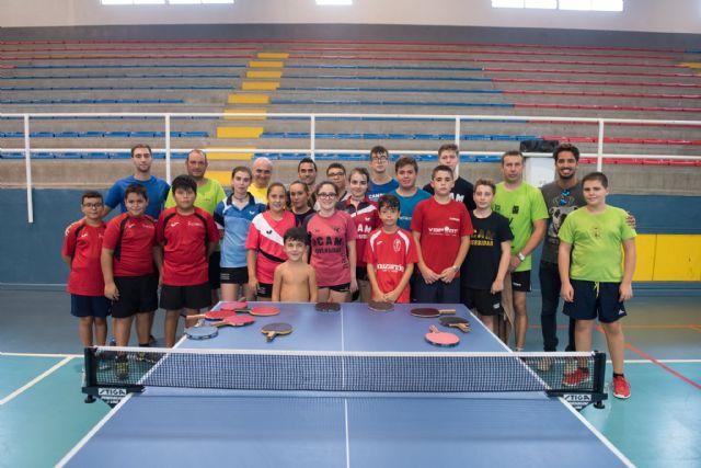 22 jugadores participan en la II concentración de tenis de mesa de Mazarrón - 1, Foto 1
