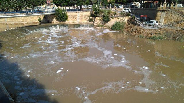 Huermur denuncia en la CHS y en la Consejería de Medio Ambiente las espumas aparecidas hoy en el Segura - 2, Foto 2