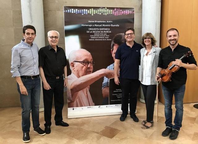 La Orquesta Sinfónica de la Región de Murcia rinde homenaje al compositor Moreno-Buendía en el Auditorio regional - 1, Foto 1