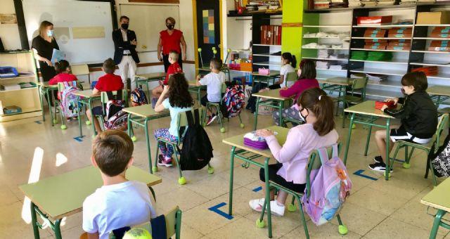 Más de mil alumnos comienzan hoy el curso de forma presencial en Lorquí - 1, Foto 1