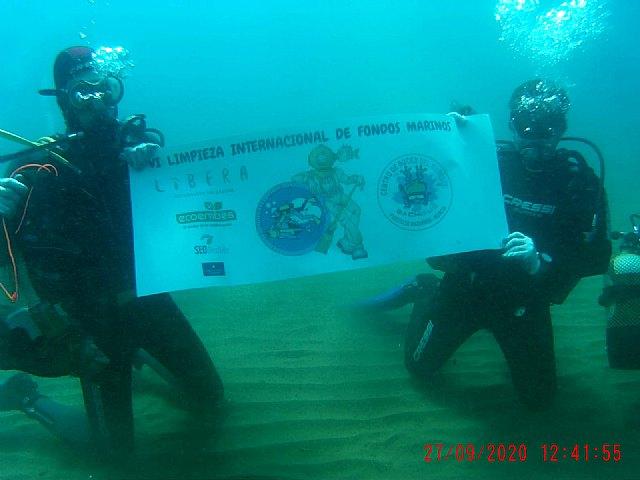 Una veintena de voluntarios participan en Mazarrón en la VI limpieza internacional de fondos marinos - 2, Foto 2