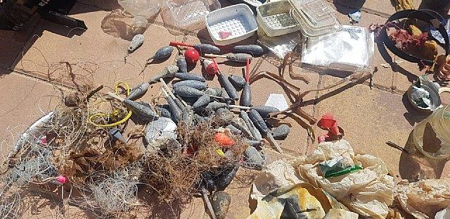 Una veintena de voluntarios participan en Mazarrón en la VI limpieza internacional de fondos marinos - 4, Foto 4