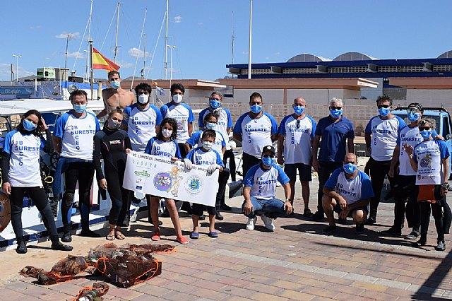 Una veintena de voluntarios participan en Mazarrón en la VI limpieza internacional de fondos marinos - 5, Foto 5