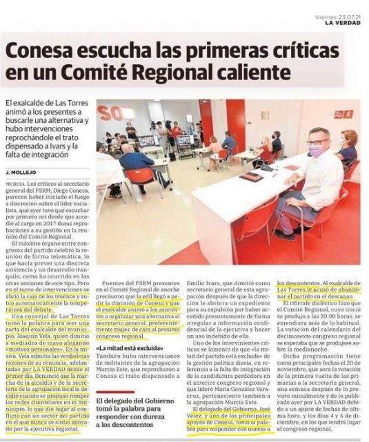 El PP de Las Torres de Cotillas aún espera respuesta de lo publicado por La Verdad sobre presuntas redes clientelares - 1, Foto 1