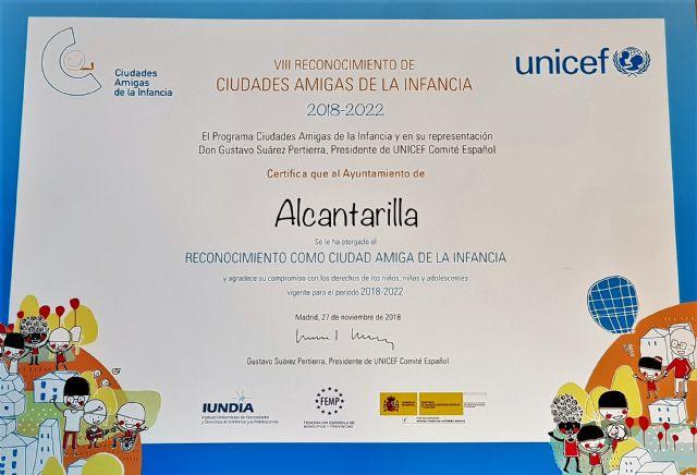 Alcantarilla recibe su reconocimiento como Ciudad Amiga de la Infancia para el periodo 2018-2022 - 5, Foto 5