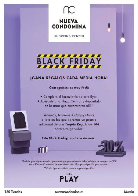 Descuentos y premios cada media hora para celebrar Black Friday en Nueva Condomina - 1, Foto 1