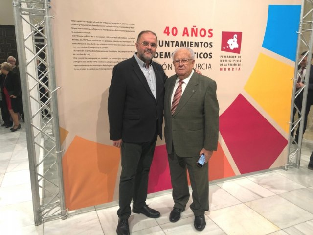 The mayor of Totana attends the act in which the Federation of Municipalities of the Region of Murcia (FMRM) honors the mayors of 79