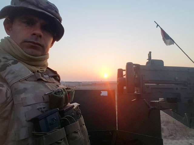 The totanero Nicolás Moreno, Corporal 1º of the Legion, is located in Iraq - 1