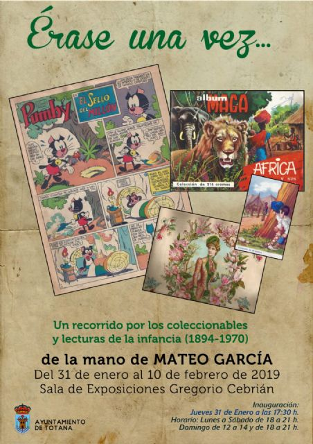 "This Thursday the exhibition ""Once upon a time ... A journey through the collectibles and readings of childhood (1894-1970)"""