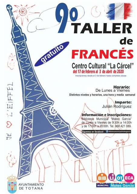 The 9th French Conversation Workshop for children and young people will take place from February 17 to April 3
