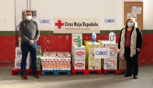 COEC entrega más de 600 kilos de productos a Cruz Roja de La Unión - 1, Foto 1