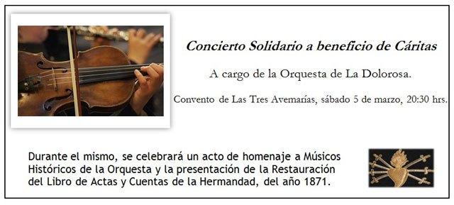La Hdad. Nuestra Señora de los Dolores organiza un concierto solidario