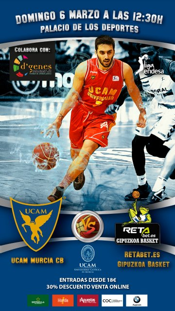 El UCAM Murcia CB – RETAbet.es Gipuzkoa Basket será el partido D'Genes - 2, Foto 2